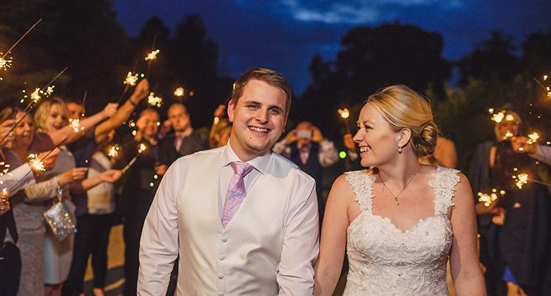 Sparklers at weddings