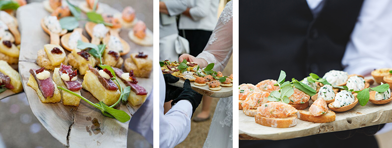 Canapes for weddings