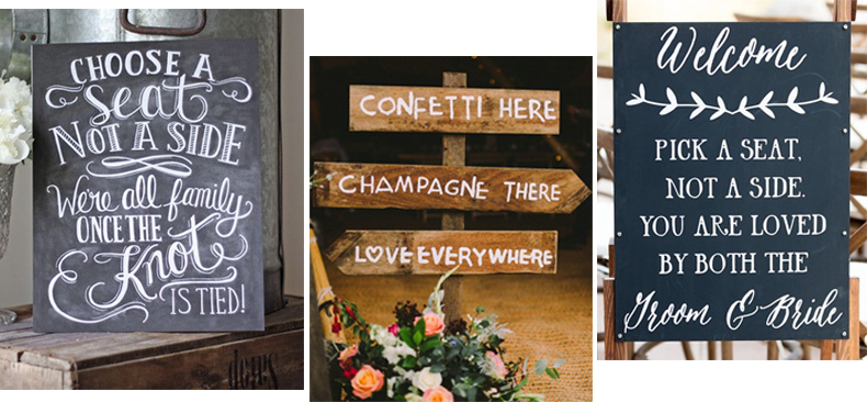 Navigation wedding signs